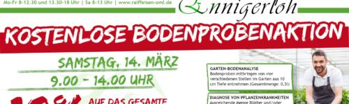 kostenlose Bodenprobenaktion im Raiffeisenmarkt Ennigerloh