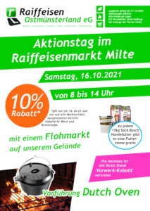 Read more about the article Aktionstag im Raiffeisenmarkt Milte