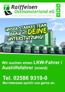 Read more about the article LKW-Fahrer(m/w/d) gesucht