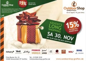 ADVENTSLONGSHOPPING im Outdoorshop Greffen